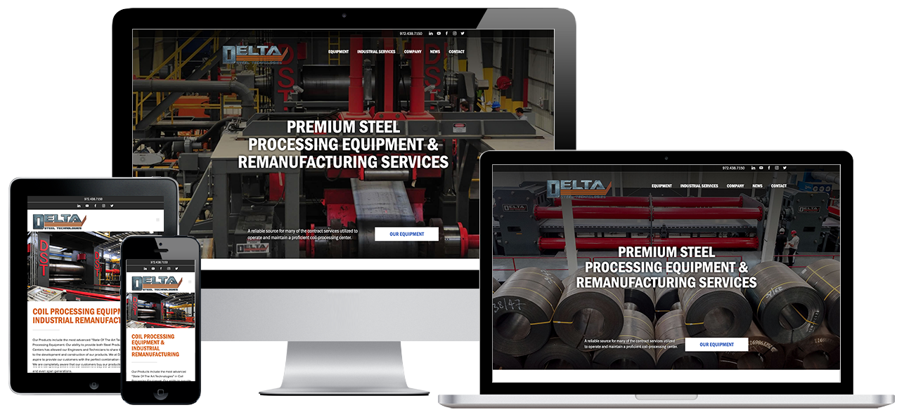 Delta Steel Technologies Website Project by Visual App with Mobile Responsive Design