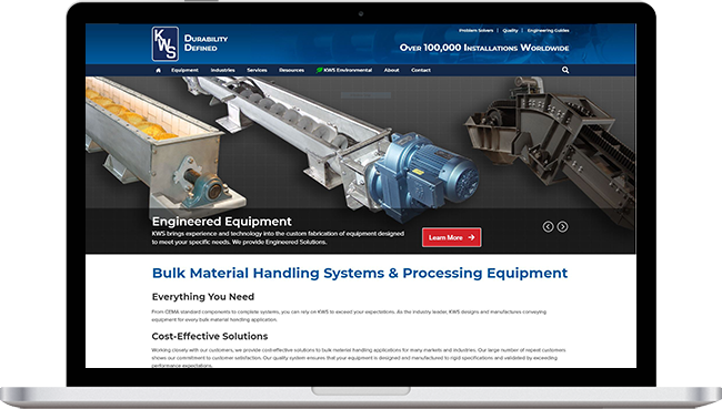 KWS Manufacturing Website Design Project by Visual App