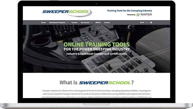 Sweeper School Website Project with Mobile Responsive Design