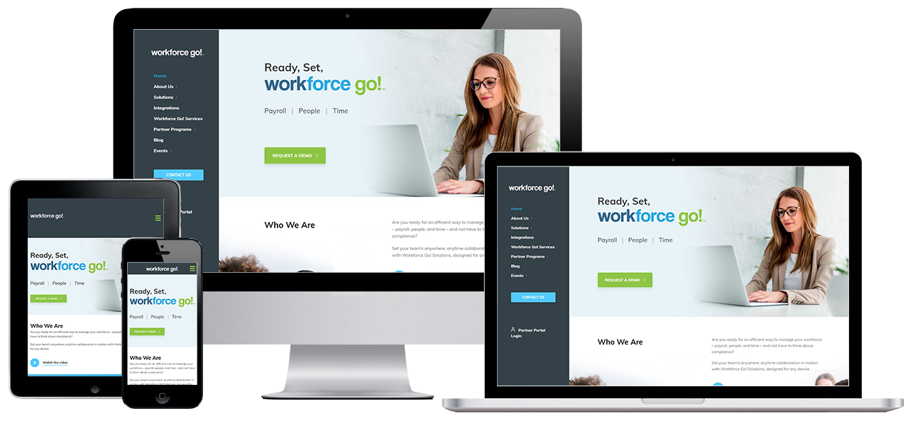 Workforce Go Website Project by Visual App with Mobile Responsive Design